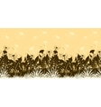 Flowers Dandelions Silhouettes Seamless vector image