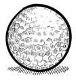 doodle golf ball vector image vector image
