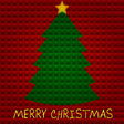 Christmas tree with pyramids background vector image vector image