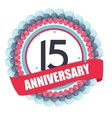 Cute Template 15 Years Anniversary with Balloons vector image