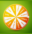 realistic fortune wheel vector image