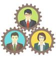 Mechanism of Teamwork vector image