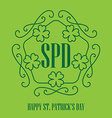Happy St Patricks Day - card in monogram style vector image