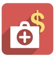 Payment Healthcare Flat Rounded Square Icon with vector image