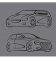 black auto set vector image