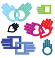 hand connection set vector image