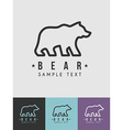 Line Art Badge or Logo Template Thin Line Graphic vector image