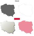 Poland outline map set vector image