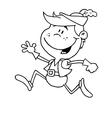 robin hood costume cartoon vector image