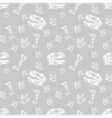 seamless dinosaurs pattern with dinosaur sculls vector image