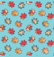 seamless pattern with flat maple leaves vector image