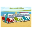 Summer travel design with camper van vector image