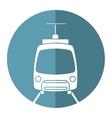 tram travel public transport urban vector image