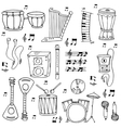 Stock music theme doodles vector image