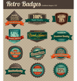 Retro badges combined vector image