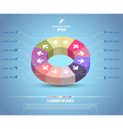 Circle with arrow 3d style vector image