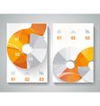 brochure design with arrows elements vector image