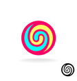 Lollipop colorful logo vector image
