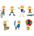 little boy in different situations vector image