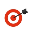 Target icon Solution design graphic vector image