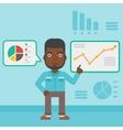 Man making business presentation vector image vector image