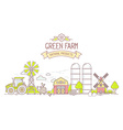 Agribusiness of colorful modern farm life wi vector image