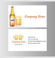 business card beer vector image