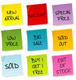 Sale announcements vector image