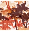 Tropical summer seamless print with palm vector image