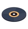 Vinyl record isometric 3d icon vector image
