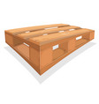 wooden palett for warehouse vector image