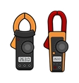 Digital Current Clamp Meter Electrician power vector image