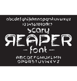 Hand made Scribble Font Scary Reaper vector image