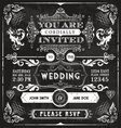 Vintage Wedding Invitation vector image