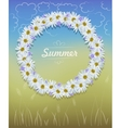 Camomile wreath vector image