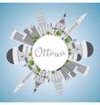 Ottawa Skyline with Gray Buildings vector image