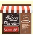 flat bakery shop vector image