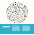 Bicycle graphic design Bike types flat des vector image