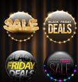 Black Friday SALE banner set for promotion vector image