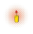 Candle icon comics style vector image