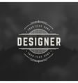 Designer Design Element in Vintage Style vector image