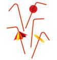 drinking straws set vector image