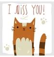 I Miss You postcard vector image