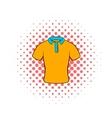 Mens polo shirt icon comics style vector image