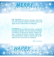 Merry Christmas New Year Background vector image