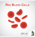 red blood cells flat design vector image