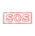 Sos rubber stamp vector image
