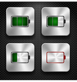 steel icon battery vector image