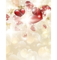 Valentins Day Card With Hearts EPS 10 vector image