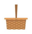 wicker basket camping cartoon icon symbol empty vector image